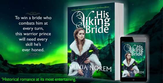 NEW! Cover Reveal and Paperback release: His Viking Bride by OliviaNorem.